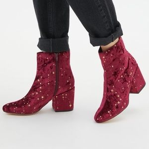 UO Margot Constellations Stars Moon Velvet Boot